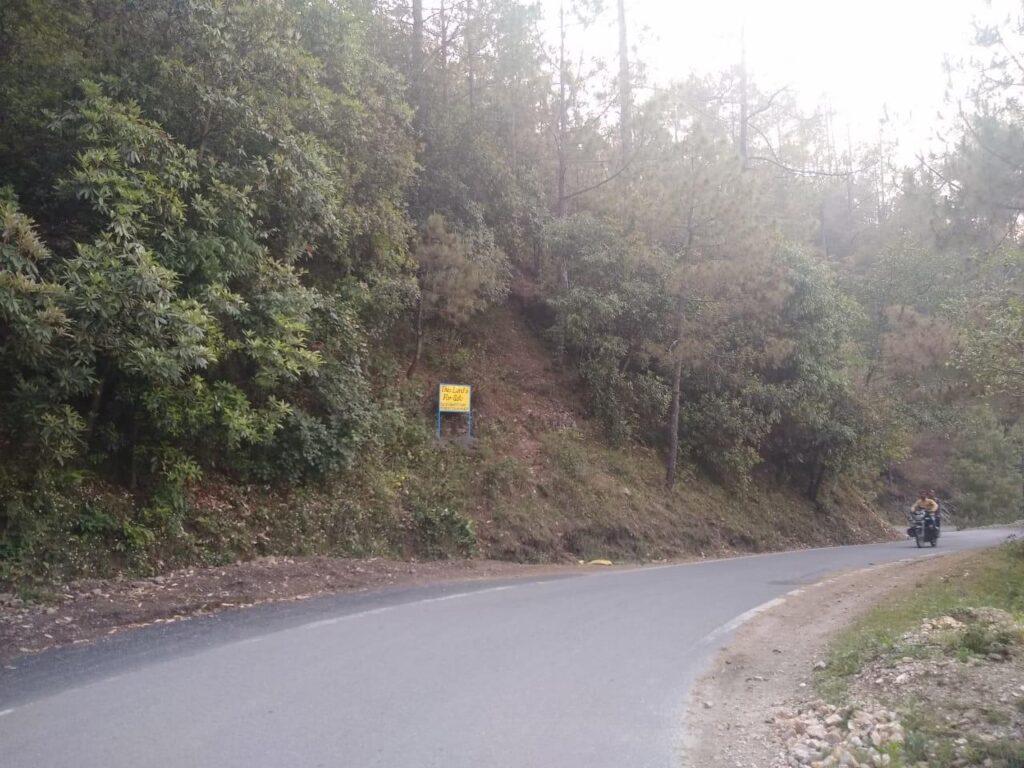 80 lakhs – roadside 10 nali plot in Dhari, Mukteshwar in Uttarakhand